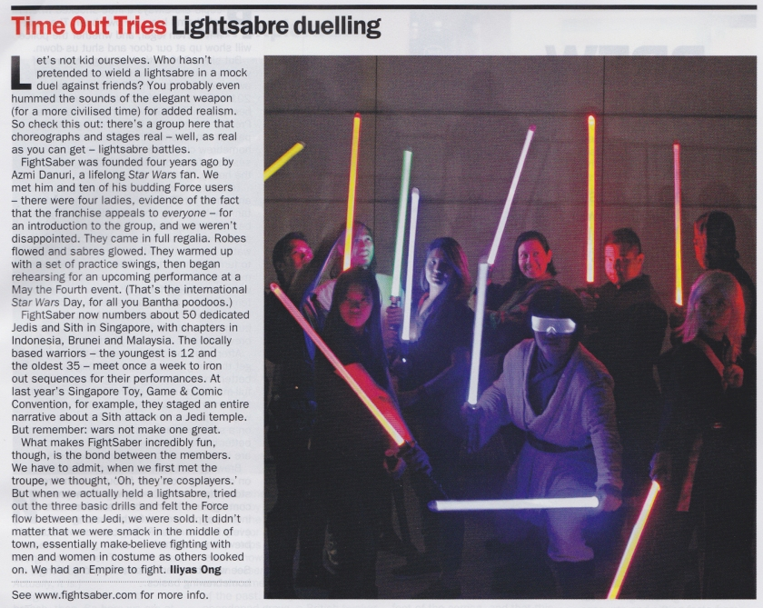 FightSaber SG in Time Out Singapore